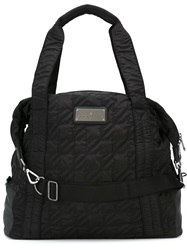 Adidas By Stella Mccartney Quilted Sports Bag Black