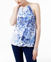 Inc International Concepts Embellished Halter Top Only At Macy's Sail Blue