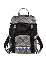 Prada Quilted Nylon Backpack Ardesia