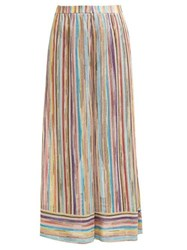Missoni Mare Striped Knitted Mesh Trousers Multi