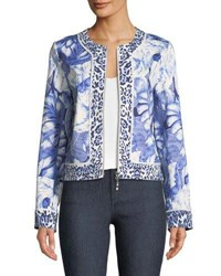 Berek Rainforest Zip Front Jacket Petite Blue White