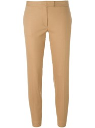 Joseph Cropped Tailored Trousers Nude And Neutrals