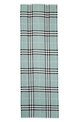 Burberry Women's Giant Check Print Wool And Silk Scarf Dusty Mint