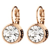 Dyrberg Kern Louise Rose Gold Crystal Hook Drop Earrings