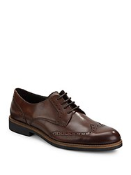 A. Testoni Moro Leather Derby Shoes Brown