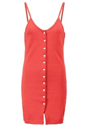 Missguided Jersey Dress Rust Orange