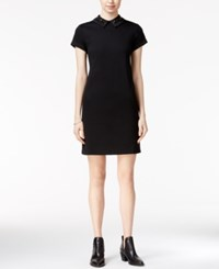 Maison Jules Embellished Collar Dress Only At Macy's Deep Black