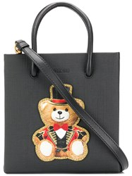 Moschino Teddy Print Crossbody Bag Black