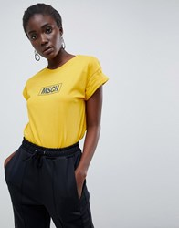 Moss Copenhagen Relaxed T Shirt With Logo Front Yellow
