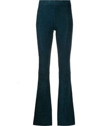 Drome Flared Style Trousers Blue