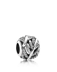 Pandora Design Pandora Charm Sterling Silver And Cubic Zirconia Light As A Feather Moments Collection Silver Clear