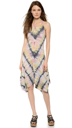 Raquel Allegra Handkerchief Tank Dress Pink Tie Dye