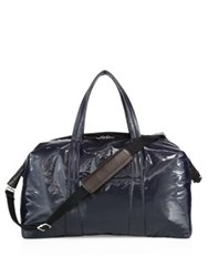 Maison Martin Margiela Weekender Calf Leather Duffle Bag Black
