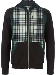 Qbism Plaid Panel Hoodie Green