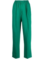 Forte Forte Loose Fit Trousers Green