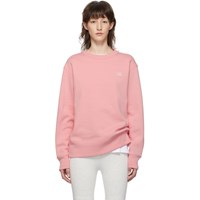 Acne Studios Pink Fairview Face Sweatshirt