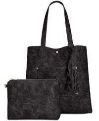 Steve Madden Casey North South Large Tote Black