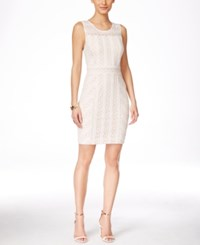Inc International Concepts Sleeveless Lace Sheath Dress Only At Macy's White