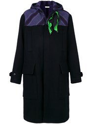 J.W.Anderson Contrast Panel Coat Polyester Cashmere Wool Black