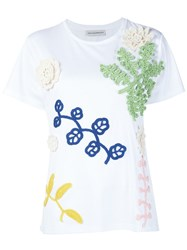 Vika Gazinskaya Crochet Applique T Shirt White