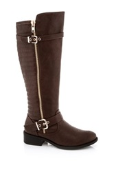 Godiva Marco Textured Tall Boot Brown