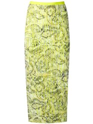 Y Project Textured Pencil Skirt Green