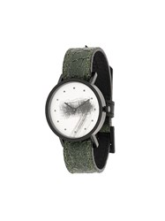 South Lane Avant Silent Watch Calf Leather Stainless Steel Green