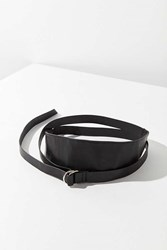 Urban Outfitters Faux Leather Wrap Belt Black
