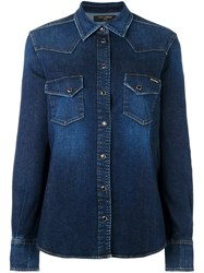Dolce And Gabbana Western Denim Shirt Blue