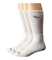 Old West Boots 3 Pack Crew Socks White Men's Crew Cut Socks Shoes
