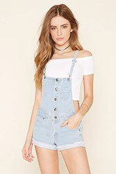 Forever 21 Button Front Overall Shorts