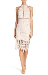 Bardot Women's 'Gemma' Halter Lace Sheath Dress