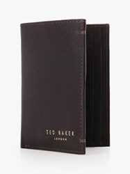 Ted Baker Zacks Credit Card Holder Dark Brown
