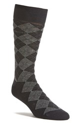 Boss Men's 'John' Argyle Socks Dark Blue