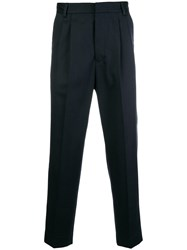 Mauro Grifoni Cropped Tailored Trousers Blue