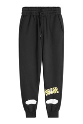Off White Cotton Sweatpants