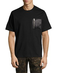 Ovadia And Sons Zip Pock Cotton T Shirt Black