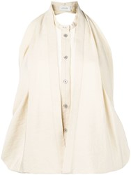 Christophe Lemaire Two Layered Sleeveless Blouse Neutrals