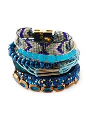 Hipanema 'Peacock' Multi Strap Bracelet Multicolour