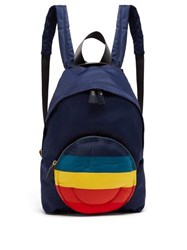 Anya Hindmarch Chubby Smiley Backpack Navy Multi