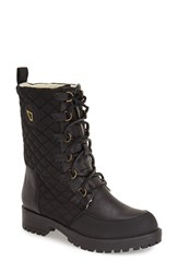Women's Matt Bernson 'Ketchum' Lace Up Boot Black Quilted