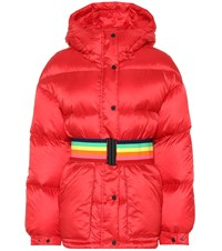 Perfect Moment Oversized Down Ski Jacket Red