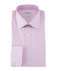 Charvet Check Barrel Cuff Dress Shirt Pink Blue Women's