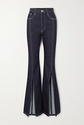 Solace London Evelin High Rise Flared Jeans Mid Denim