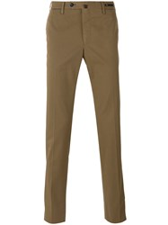 Pt01 Slim Fit Chino Trousers Brown