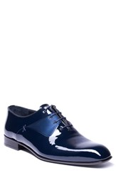 Jared Lang Matteo Plain Toe Oxford Navy Leather