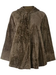 Drome Lamb Fur Jacket Brown