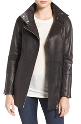 Mackage Women's Leather Moto Trench Coat