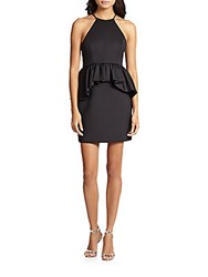 Ali Ro Hi Lo Peplum Dress Black