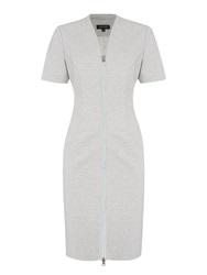 Pied A Terre Ponte Brigadire Dress Grey